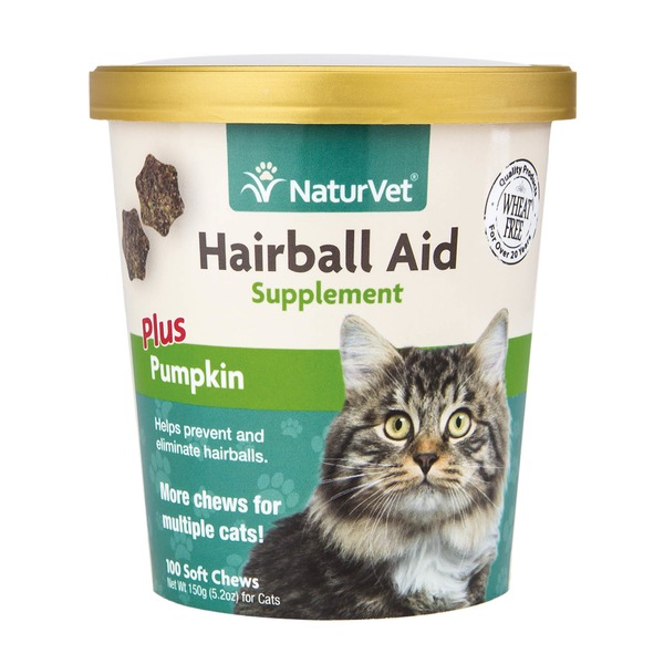NaturVet Wheat Free Hairball Aid Supplement For Cats