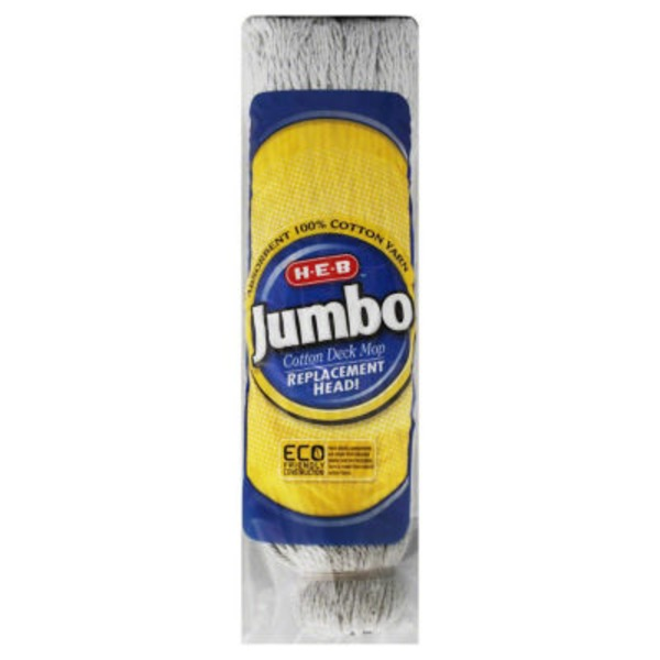 H-E-B Jumbo Cotton Deck Mop Replacement Head
