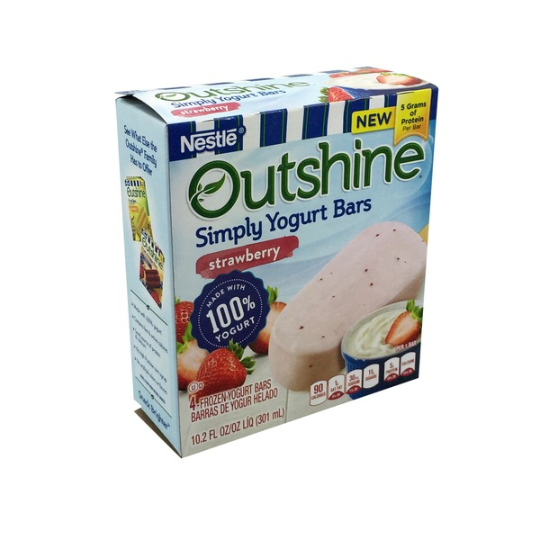 Nestle Outshine Yogurt Bars Strawberry