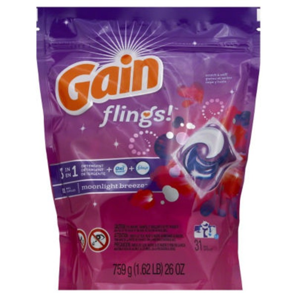 Gain Flings! 3 in 1 Moonlight Breeze Pacs Detergent