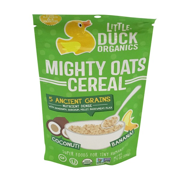 Little Duck Organics Mighty Oats Cereal For Babies 6+ Months