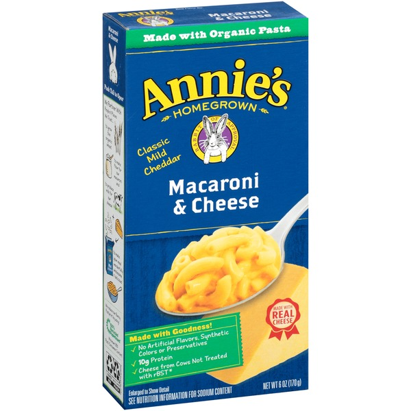 Annie's Homegrown Classic Mild Cheddar Macaroni & Cheese