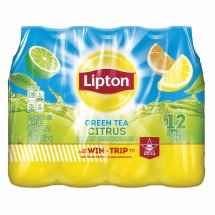 Lipton Green Tea Citrus Iced Tea, 16.9 Fl Oz, 12 Count