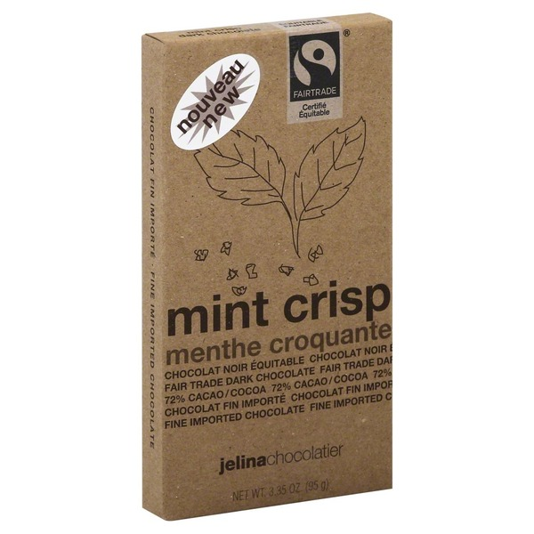 Jelina Chocolatier Chocolate, Mint Crisp, Wrapper