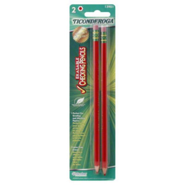 Ticonderoga Noir Erasable Checking Pencils
