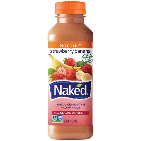Naked Juice 100% Strawberry Banana Juice Smoothie