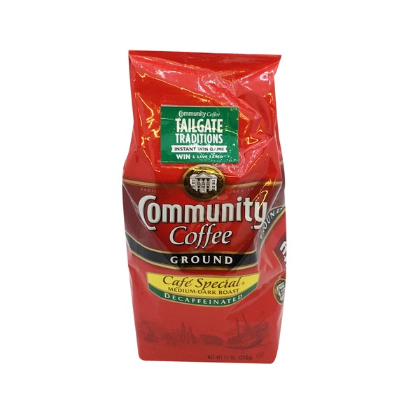Community Coffee Café Special Medium-Dark Roast Decaffeinated Ground Coffee
