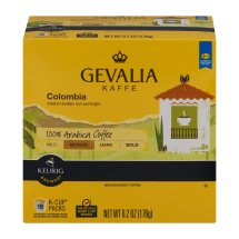 Gevalia Kaffe Colombia 100% Arabica Coffee K-Cup Packs - 18 CT