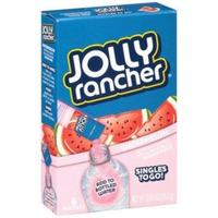 Jolly Ranchers Singles To Go! Low Calorie Drink Mix Sugar Free Watermelon - 6 PK