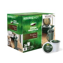 Green Mountain Coffee Breakfast Blend Single-Serve Keurig K-Cup Pods, Light Roast Coffee, 36 Count