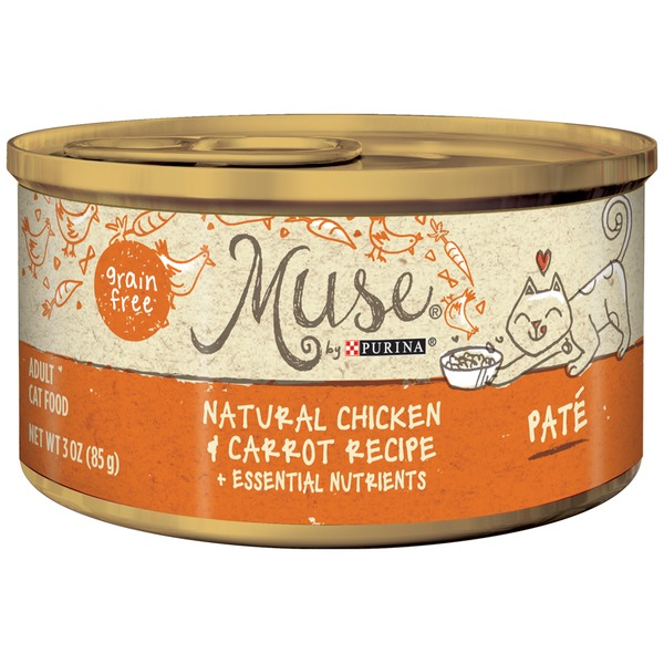 Muse Wet Chicken & Carrot Recipe Pate Cat Food