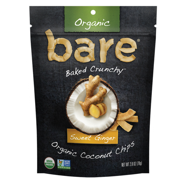 Bare Sweet Ginger Organic Coconut Chips