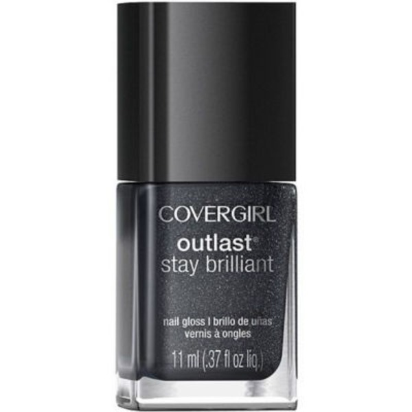 CoverGirl Outlast Stay Brilliant COVERGIRL Outlast Stay Brilliant Nail Gloss, Diva After Dark 0.37 fl oz (11 ml) Female Cosmetics