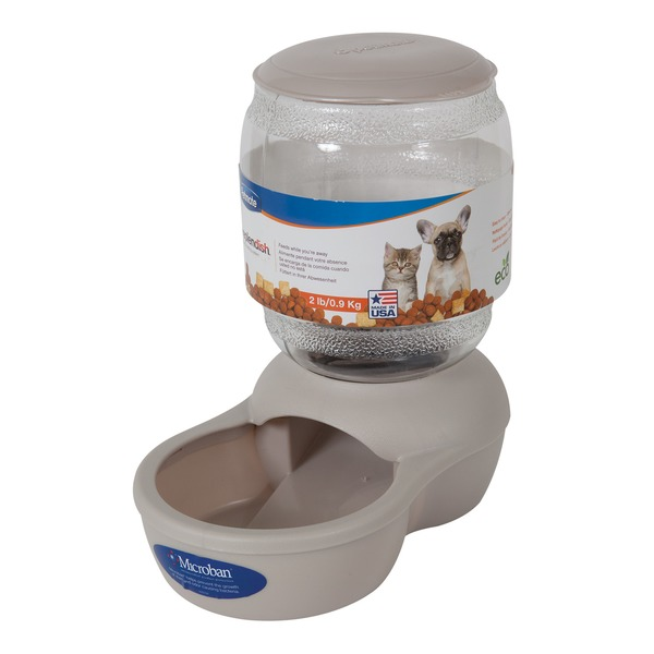 Petmate Gray Replendish Pet Feeder X Small