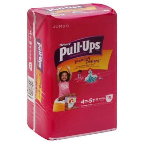 Huggies Pull-Ups Training Pants Jumbo 4T-5T - 18 CT