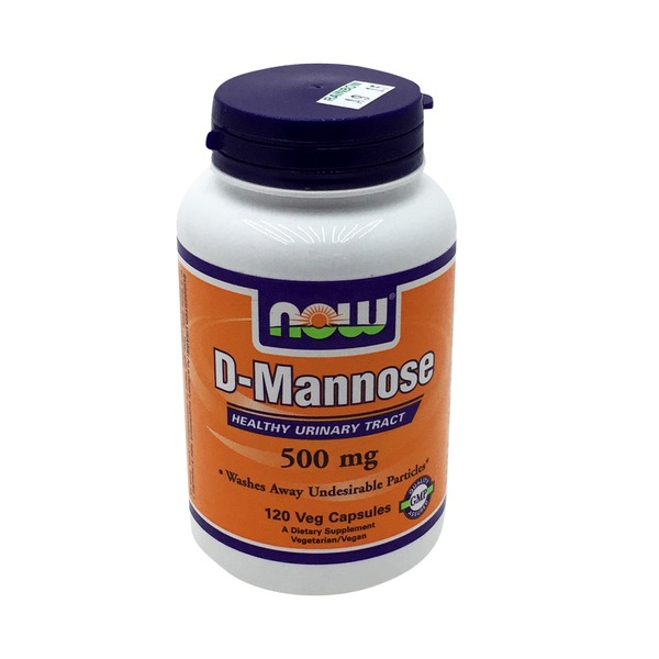 Now D-Mannose, 500mg, Capsules, Bottle