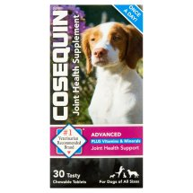 Cosequin Plus Vitamins & Minerals Advanced Strength Joint Health Supplement for Dogs Tablets, 30 count