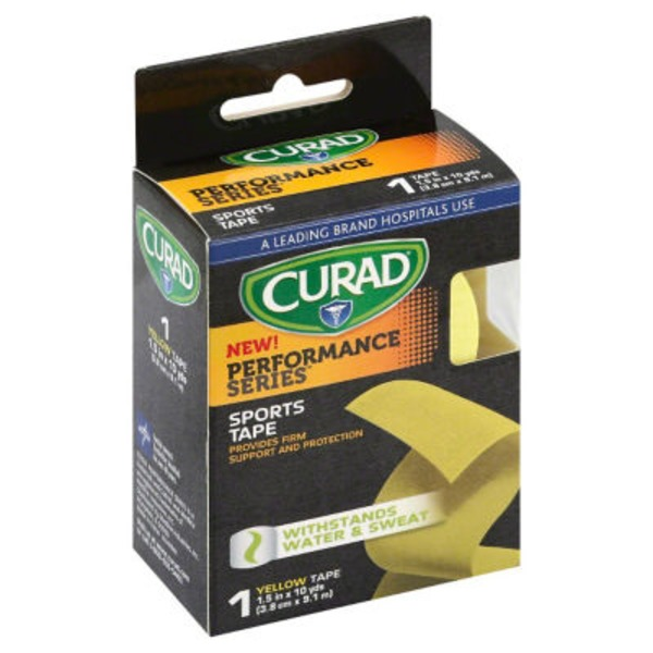Curad Performance Series Yellow Athletic Tape