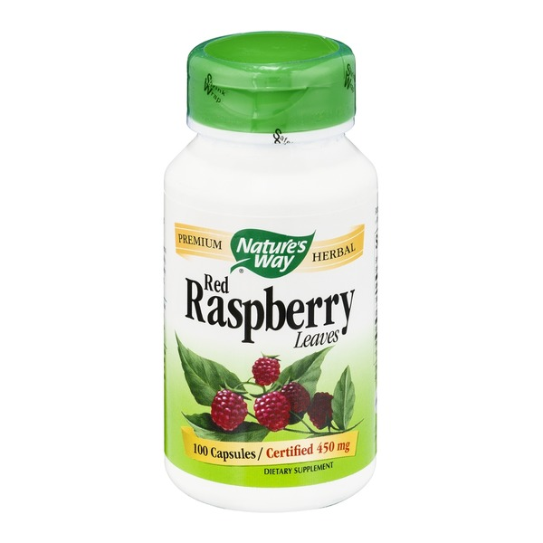 Nature's Way Red Raspberry Leaves 450mg Capsules - 100 CT