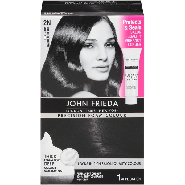 John Frieda Hair Color Precision Foam Colour Luminous Natural Black 2N Permanent Hair Colour