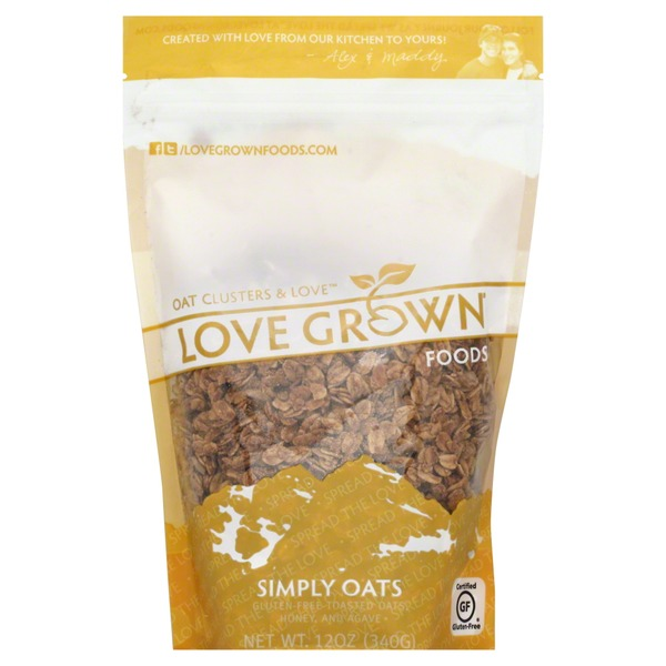 Love Grown Toasted Granola, Oat Clusters, Pouch