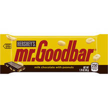 Hershey's Mr. Goodbar Milk Chocolate with Peanuts Candy Bar