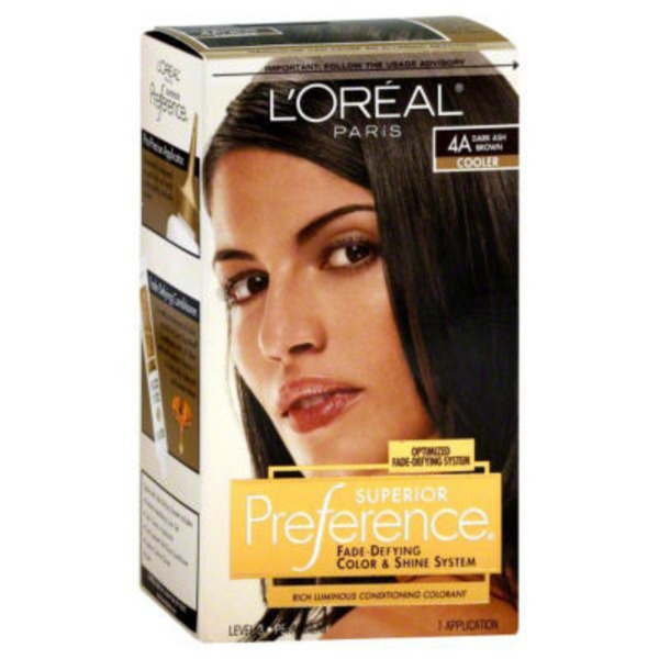 Superior Preference 4a Cooler Dark Ash Brown Hair Color
