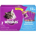Whiskas Choice Cuts Poached Salmon, Tuna, Ocean Whitefish & Tuna, and Cod & Shrimp Variety, 3 oz (Pack of 12)