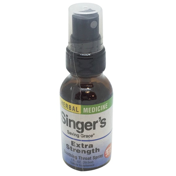 Herbs Ect Singer's Saving Grace Soothing Throat Spray Extra Strength