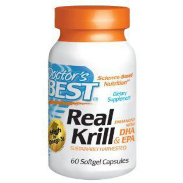 Doctor's Best Real Krill Antarctic Krill Oil Complex 350 mg Softgels