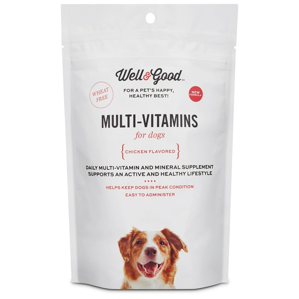 Well & Good Chicken Flavored Muti-Vitamin Soft Chews For Dogs