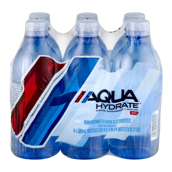 AQUAhydrate Purified Water - 6 CT