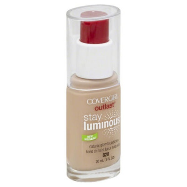 CoverGirl Outlast COVERGIRL Outlast Stay Luminous Foundation, Creamy Natural 1 fl oz (30 ml) Female Cosmetics