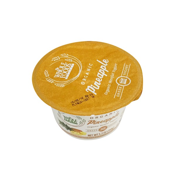 Whole Foods Market Organic Pineapple Nonfat Greek Yogurt