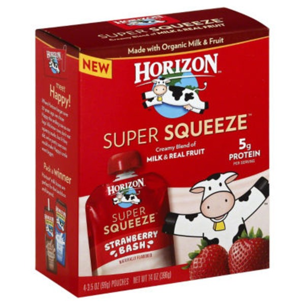 Horizon Organic Super Squeeze Strawberry Bash Juice Blend