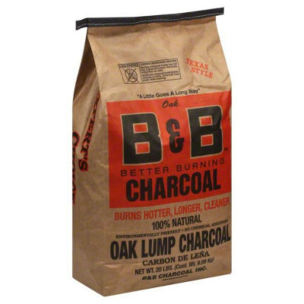 B&B Texas Style Oak Lump Charcoal