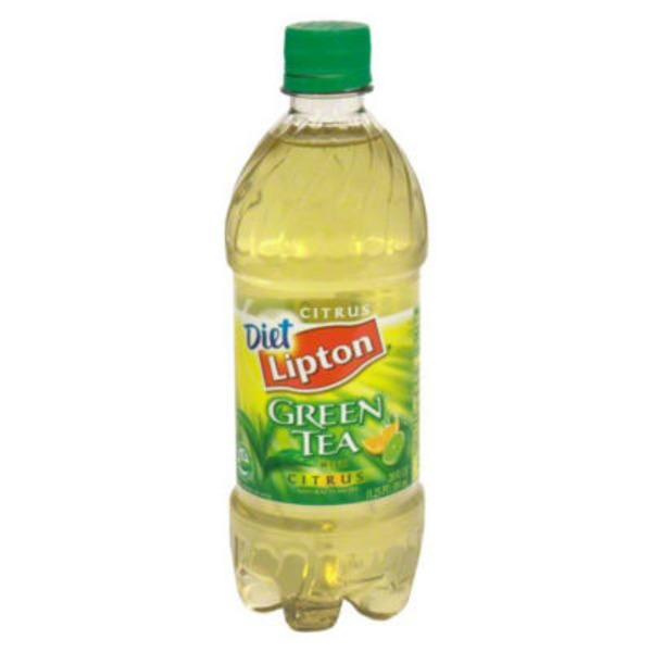 Lipton Iced Tea Diet Green Tea Citrus 20 fl. oz. Plastic Bottle Iced Tea