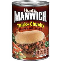 Manwich Thick & Chunky Sloppy Joe Sauce, 15.5 oz