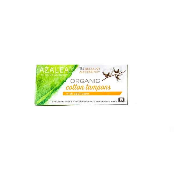 Azalea Organic Tampons With Applicator Regular