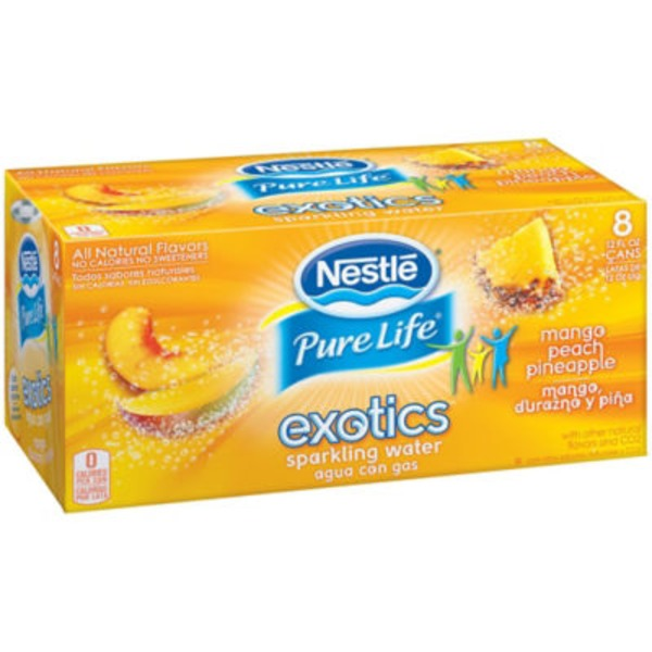 Nestlé Pure Life Exotics Mango Peach Pineapple Sparkling Water