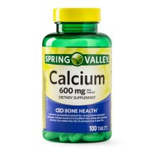 Spring Valley Calcium Tablets, 600 mg, 100 Ct