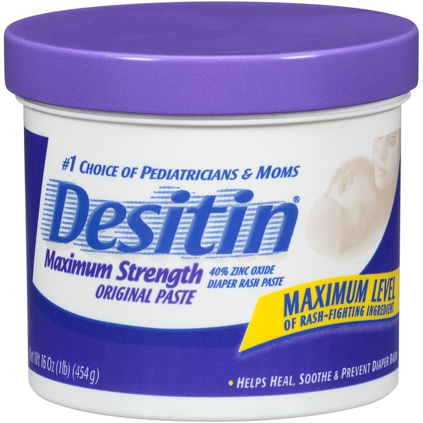Desitin® Maximum Strength Zinc Oxide Diaper Rash Paste