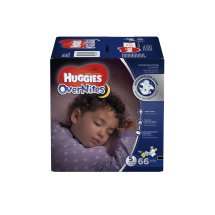 HUGGIES OverNites Diapers, Size 5, 66 Diapers