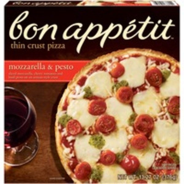 Bon Appetit Thin Crust Mozzarella & Pesto Pizza
