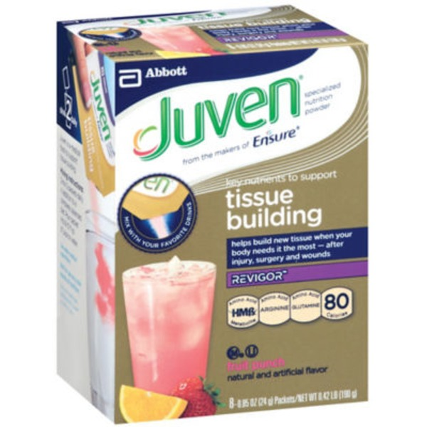 Juven Specialized Tissue Building Fruit Punch Flavor Nutrition Powder