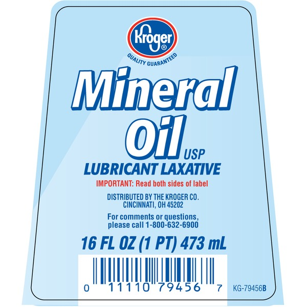 Kroger Mineral Oil Lubricant Laxative