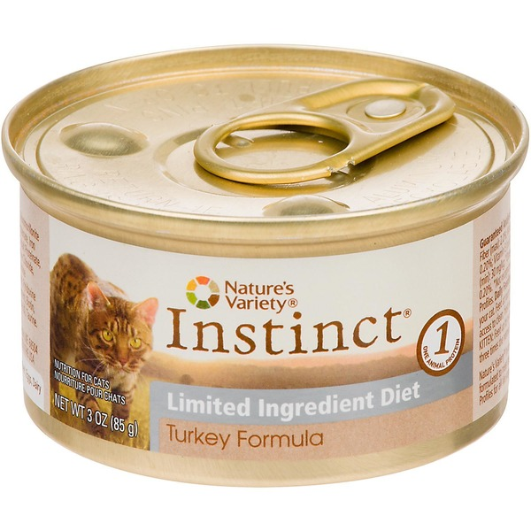 Nature's Variety Instinct Grain Free Limited Ingredient Diet Turkey Canned Cat Food 3 Oz. Case Of