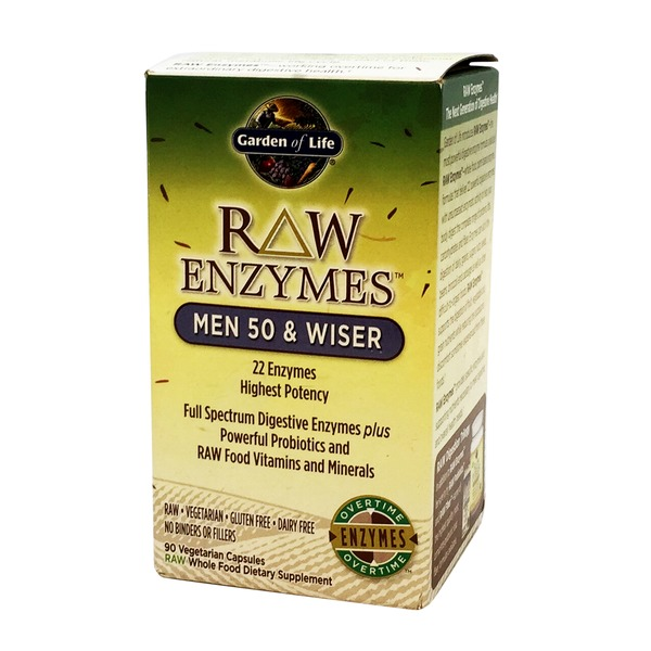 Garden of Life Raw Enzymes For Men 50 And Wiser