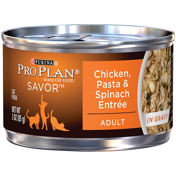 Pro Plan Cat Wet Adult Chicken Pasta & Spinach Entree in Gravy Cat Food
