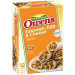 Owens Tacos with Sausage, Egg & Cheese, 12 ct, 28.8 oz